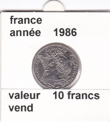 BF 1)pieces de 10 francs  france  1986 la bretagne touche le bore tu lise rare &