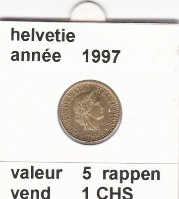 S 2) pieces suisse de 5  rappen de 1997  voir description