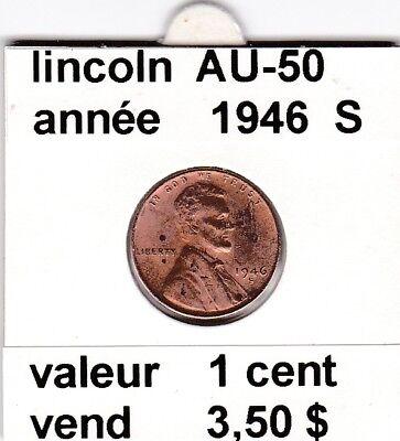 e 3)pieces de 1 cent  lincoln  1946 S