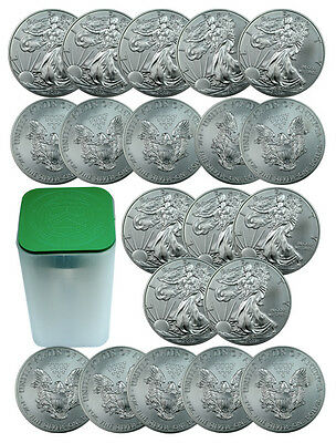 ROLL OF 20 - 2013 1 Oz Silver American Eagle $1 Coins SKU27335 on Rummage
