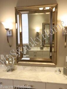 Large Art Deco Designer Wall Mirror Hollywood Glass Frame
