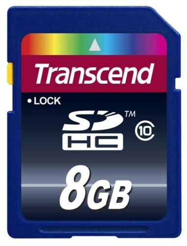 Transcend 8 GB SD SDHC Class 10 Memory Card - TS8GSDHC10