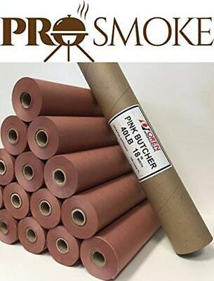 Pink/Peach Butcher Paper In Carry Tube, FDA Approved And The Original Paper For