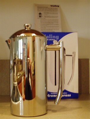 Frieling USA French Press 0104 104 6-7 Cup 36 Ounce Coffee Maker Stainless Steel 7 Cup French Press