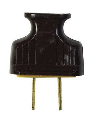 New Cooper Wiring 1912b-box Brown Flat Handle 2 Wire Plug