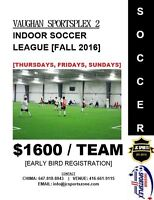Fall 2016 Mens Open Divison Indoor Soccer League