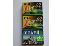 mini DV CASSETTES for Camcorder. New , sealed , immaculate, will post
