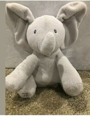 "Gund Baby Animated Flappy The Elephant Plush 11"" Peek A Boo stuffed animal toy"