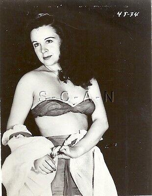 Original 1940s-60s Vintage Nude Pinup RP- Old Fashion Bra- Panties- Dress Top