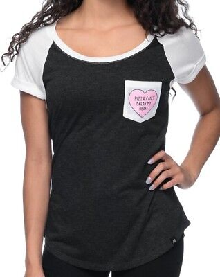 NWT JV by Jac Vanek Pizza Heart Women's Design Short Sleeve Pocket Graphic Top S for sale  Morris Plains