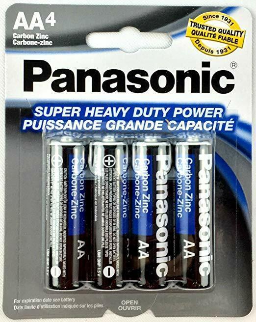 24 Panasonic Super Haevy Duty 1.5 V Carbon Zinc D Size 12 Pa