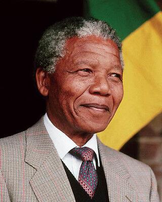 President of South Africa NELSON MANDELA Glossy 8x10 Photo Politician Print