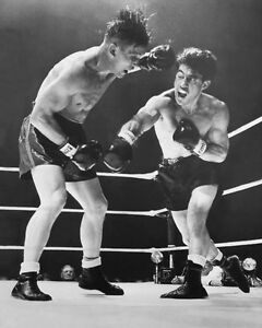 Middleweight Boxers ROCKY GRAZIANO vs Tony Zale Glossy 8x10 Photo Boxing Print