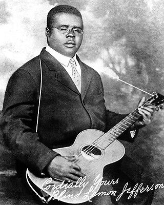 Blues Soul Singer BLIND LEMON JEFFERSON Glossy 8x10 Photo Print Music Poster