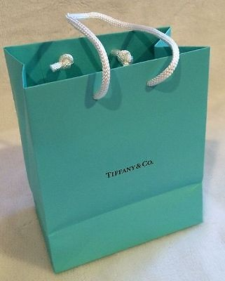 Tiffany Co. Small Blue Paper Shopping Gift Bag