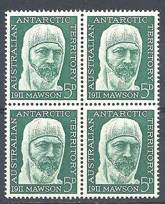 Australian Antarctic Territory 1961 Sc# L7 set Mawson Australia block 4 MNH