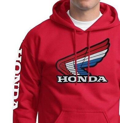 Rwb Retro Honda Wing Pull Over Sweatshirt Hoody Hrc Motorcycle Mt Cr 250 125