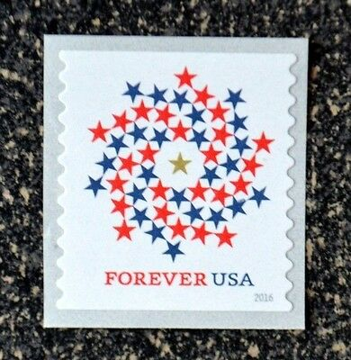 2016USA #5130 Forever Patriotic Spiral - Coil Single  Mint NH  self adhesive
