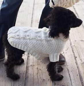 Dog Coat Jumper Knitting pattern Biscuits And Bone 5 Sizes Laminated