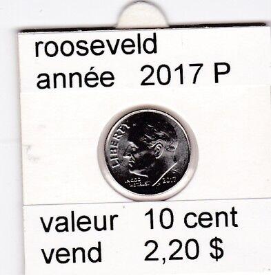 e1 )pieces de 10 cent rooseveld  2017  P