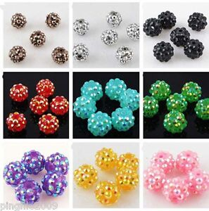 Jewelry-Making-20-pcs-12mm-Disco-Ball-Acrylicresin-Rhinestones-Charm-Beads