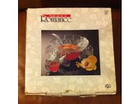 Vintage 12 piece Crystal punch bowl set brand new and boxed