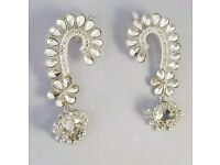 Pure Silver kundana full ear earring jumka