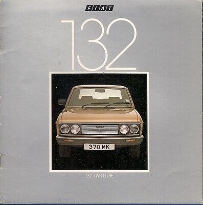Fiat 132 2000 1981-82 UK Market Sales Brochure