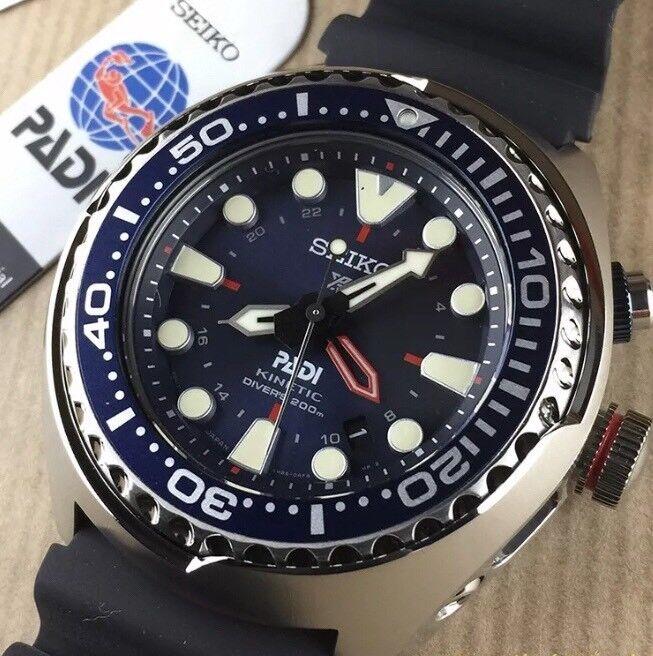 NEW SEIKO PROSPEX KINETIC GMT PADI DIVERS LTD EDITION WATCH SUN065P1 SUN065  TUNA 437f8dc862