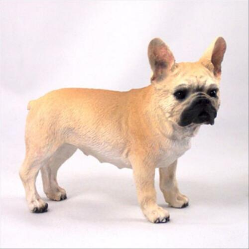 French Bulldog Fawn Cream Dog Hand Painted Collectable Figurine Statue