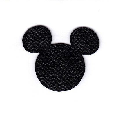 Disney Iron Patch (Disney Mickey Mouse Black Head Small Iron On Embroidered Patch )