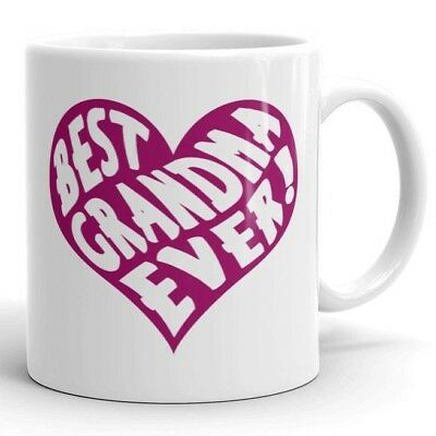 Gifts for Grandma Best Grandma Ever Cute Coffee Mug Granny Tea Cup (Best Gifts For Grandmother Grandmas)