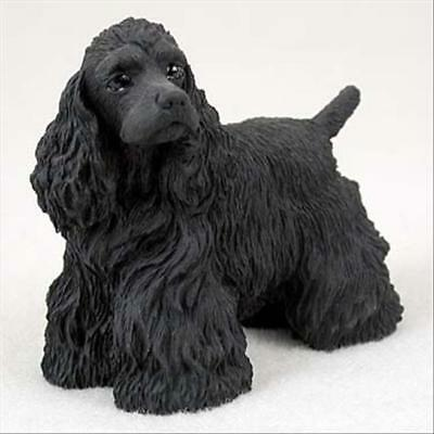 (Cocker Spaniel Black Dog Hand Painted Canine Collectable Figurine Statue)