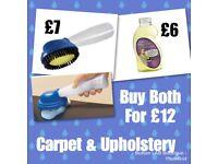 Carpet & Upholstery brush & shampoo
