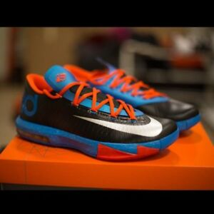 "Nike KD 6 ""OKC Away"", Size 10 Brand New w Box"