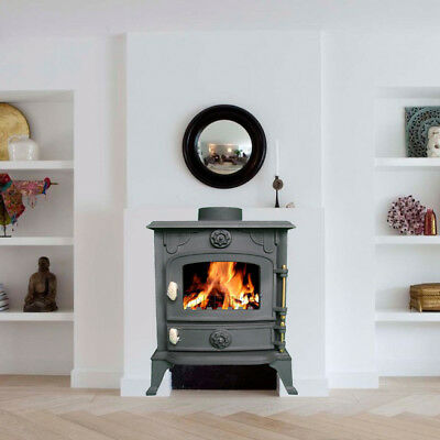 6KW JA013 High Efficient Cast Iron Log Burner Multifuel Woodburning Stove New