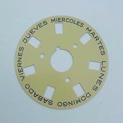 ROLEX President Day-Date 18038 SPANISH Day Wheel Disk Watch Part Original  Diamond Black Painted Wheels