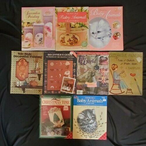 Lot of 9 Decorative Painting Tole Art Craft Books Baby Animals Christmas Folk