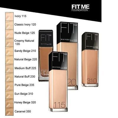MAYBELLINE Fit Me Liquid Foundation (Glass) 30ml - CHOOSE SHADE - NEW Sealed