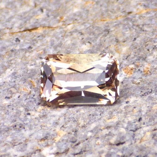 GOLD-PINK-ORANGE OREGON SUNSTONE 2.03Ct FLAWLESS-BEAUTIFUL OCTAGON CUT 9.3 x 6.1
