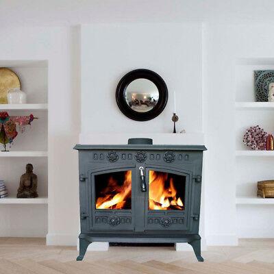 12KW JA006 High Efficient Cast Iron Log Burner Multifuel Woodburning Stove New