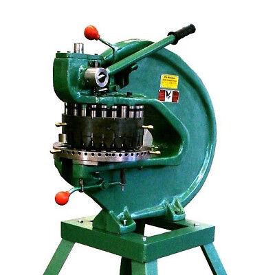 Tin Knocker 18 X 8 Tons 18-station Hand Turret Punch Tk 18