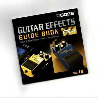 2004? BOSS GUITAR / BASS EFFECTS Pedal Pamphlet/Catalog/Brochure Book, Volume 18