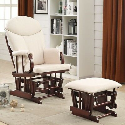 Cherry Glider Ottoman Gliders Baby Nursery Furniture Rocker Chairs Rocking Chair