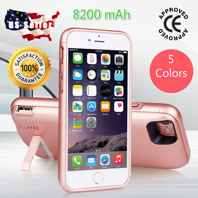 For iPhone 8 7 6 6s Plus Battery Case 8200 mAh Charging Charger Power Bank Cover
