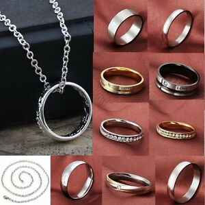 Women-Men-Stainless-Steel-Mirror-Polished-Comfort-Fit-Wedding-Band-Promise-Ring