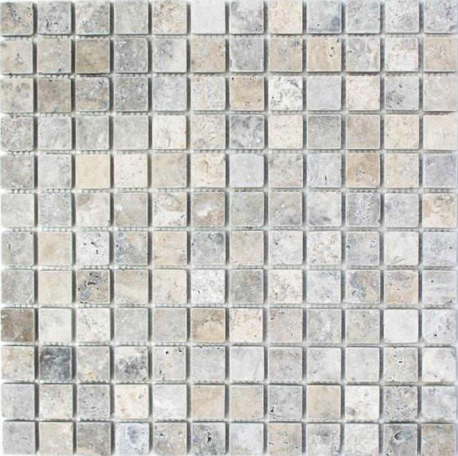 10 Fliesen Mosaik Fliese Travertin Naturstein walnuss Noce Antique 43-44023/_f