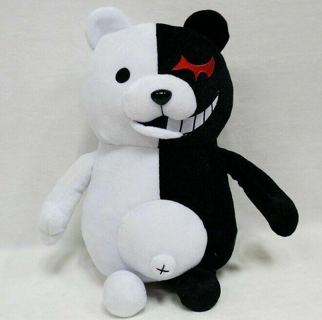 1pc Dangan Ronpa Mono Kuma Monokuma Bear Soft Plush Stuffed Toys Child Gift US