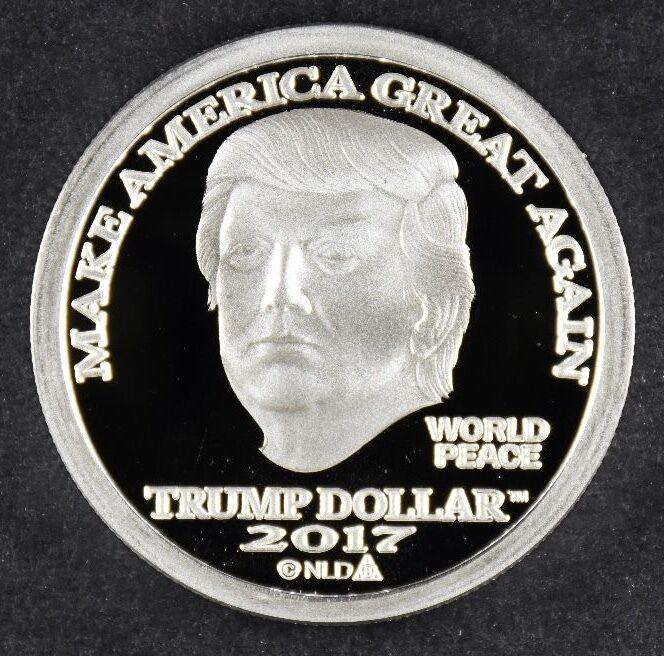 2017 NORFED PRESIDENT DONALD TRUMP 1 oz .999 SILVER $25 DOLLAR MAGA COIN
