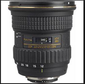 Nikon Tokina 12-24mm Wide Angle Lens for any Nikon DX camera